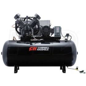 Campbell Hausfeld Commercial 10-HP 120-Gallon Two Stage Air Compressor (230V 3-Phase) Fully Packaged