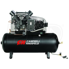 Campbell Hausfeld Commercial 15-HP 120-Gallon Two Stage Air Compressor (208V 3-Phase) Fully Packaged