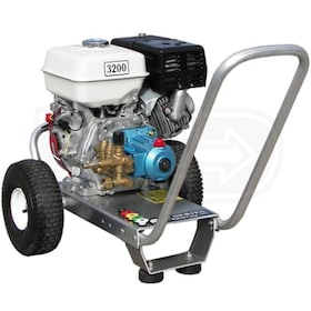 Pressure-Pro Professional 3200 PSI (Gas-Cold Water) Aluminum Frame Pressure Washer w/ Honda Engine & CAT Pump