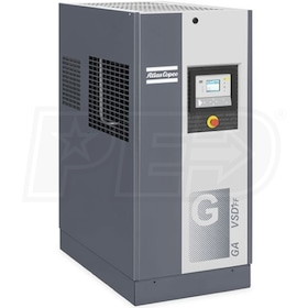 Atlas Copco GA30 VSD+ 40-HP Variable Speed Rotary Screw Air Compressor w/ Dryer (460V 3-Phase)