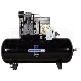 Industrial Air 7.5-HP 120 Gallon Two-Stage Air Compressor (460V 3-Phase)