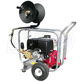 Pressure-Pro Pro-Jet Professional 4000 PSI (Gas - Cold Water) Aluminum Frame Drain Cleaner Jetter w/ Honda Engine