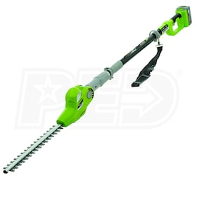 "Earthwise (17"") 24-Volt Lithium-Ion Cordless Long Reach Hedge Trimmer"