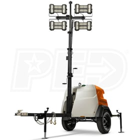 Generac MLT6SMD-STD2 - 6kW Towable Diesel Vertical Mast LED Light Tower w/ Mitsubishi Engine & Electric Winch