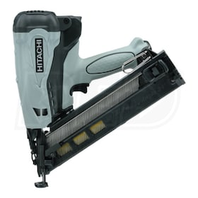 "Hitachi Professional Gas 2 1/2"" 15-Gauge Angled Finish Nailer (34°)"