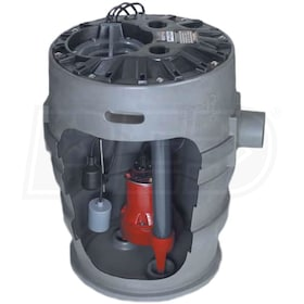 "Liberty Pumps P372LE51 - 1/2 HP Pro370 Cast Iron Sewage Pump System (21""x30"")"