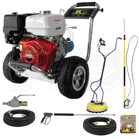 BE Professional 4200 PSI (Gas-Cold Water) Start Your Own Pressure Washing Business Kit w/ Honda Engine & SS Frame