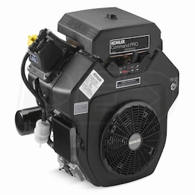 "Kohler Command Pro CH640 674cc 20.5 Gross HP Electric Start Horizontal Engine, 1-1/8"" x 4"" Crankshaft, Tapped 7/16"" -20"