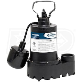 ProFlo PF92331 - 1/3 HP Cast Iron Submersible Sump Pump w/ Tether Float Switch