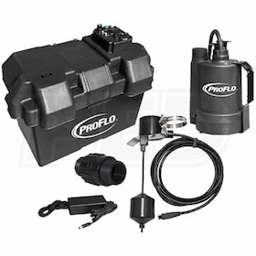 ProFlo PF92910 - Battery Back Up Sump Pump System (1080 GPH @ 10')