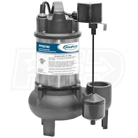 "ProFlo PF93782 - 1/2 HP Stainless Steel & Cast Iron Sewage Pump (2"") w/ Vertical Switch & SS Impeller"