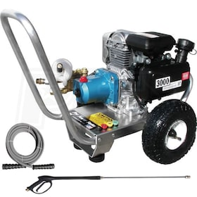 Pressure-Pro Semi-Pro 3000 PSI (Gas Cold - Water) Aluminum Frame Pressure Washer w/ Honda Engine & CAT Pump