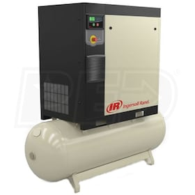 Ingersoll Rand 10-HP 80-Gallon Rotary Screw Air Compressor (200V 3-Phase 145PSI)