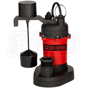 Red Lion RL-SP50V - 1/2 HP Thermoplastic Submersible Sump Pump w/ Vertical Float Switch
