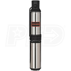 Red Lion 1 HP Deep Well Submersible Pump (2-Wire 230V)