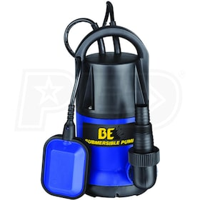 BE SP-550SD - 40 GPM Submersible Thermoplastic Utility Pump w/ Float Switch