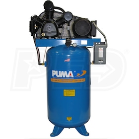 Puma 7.5-HP 80-Gallon Two-Stage Air Compressor (460V 3-Phase)
