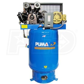 Puma 15-HP 120-Gallon Two-Stage Air Compressor (208-230V 3-Phase)