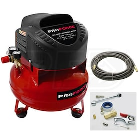 Pro-Force 6-Gallon Pancake Air Compressor w/ Extra Value Kit
