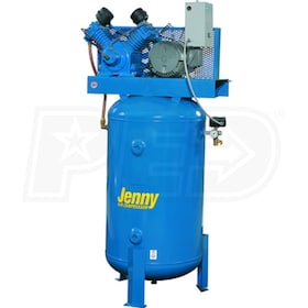 Jenny 5-HP 80-Gallon Two-Stage Air Compressor (230V 1-Phase)