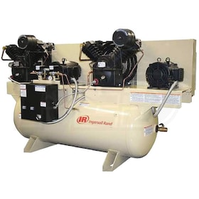Ingersoll Rand 5-HP 120-Gallon Two-Stage Duplex Air Compressor (460V 3-Phase) Fully Packaged