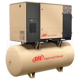 Ingersoll Rand 5-HP 80-Gallon Rotary Screw Total Air System (208V 1-Phase 125PSI)
