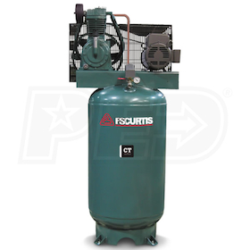 FS-Curtis (CT5) 5-HP 80-Gallon Two-Stage Air Compressor (208V 3-Phase)