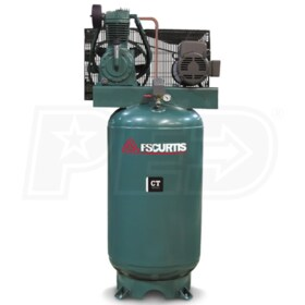 FS-Curtis (CT7.5) 7.5-HP 80-Gallon Two-Stage Air Compressor (230V 3-Phase)