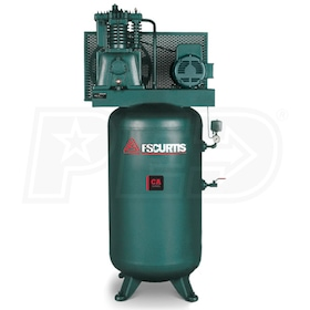 FS-Curtis (CA5) 5-HP 80-Gallon Two-Stage Air Compressor (230V 1-Phase)