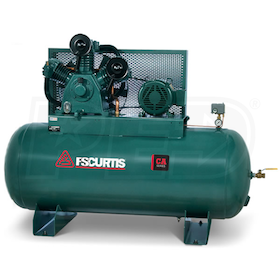 FS-Curtis (CA10) 10-HP 120-Gallon Two-Stage Air Compressor (208V 3-Phase)
