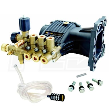 AAA 3800 PSI 3.5 GPM Horizontal Triplex Plunger Replacement Pressure Washer Pump Kit w/ PowerBoost
