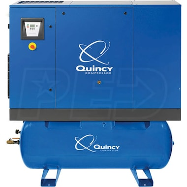 Quincy QGS 30-HP 120-Gallon Rotary Screw Compressor (208/230/460 3-Phase)