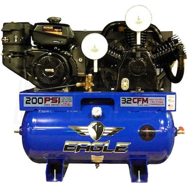 Eagle 14-HP 30-Gallon Two-Stage Truck Mount Air Compressor w/ Electric Start Kohler Engine