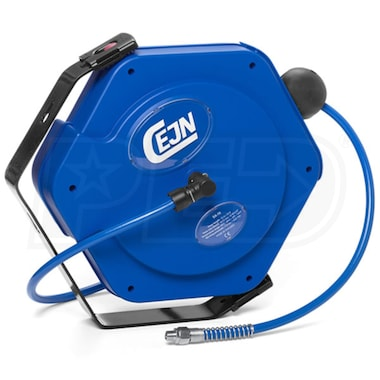"CEJN Industrial Air Hose Reel with Polyurethane Reinforced (PUR) Hose 5/16"" x 32.5'"