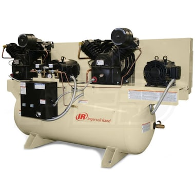 Ingersoll Rand 7.5-HP 120-Gallon Two-Stage Duplex Air Compressor (230V 3-Phase) Fully Packaged