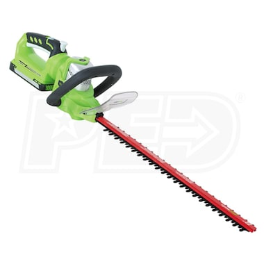 "Greenworks (22"") 24-Volt Enhanced Cordless Lithium-Ion Dual Action Hedge Trimmer (Tool Only)"