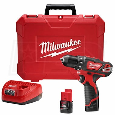 "Milwaukee 2407-22 - M12™ Cordless 12V Lithium-Ion 3/8"" Drill/Driver Kit"