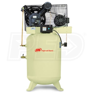 Ingersoll Rand 10-HP 120-Gallon Vertical Two-Stage Air Compressor (208V 3-Phase)