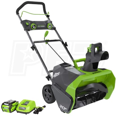 "Greenworks DigiPro (20"") 40-Volt G-MAX Lithium-Ion Cordless Electric Snow Blower"