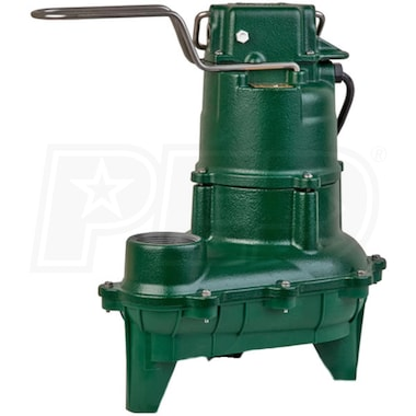 "Zoeller N264 - 4/10 HP Cast Iron Sewage Pump (2"") (Non-Automatic)"