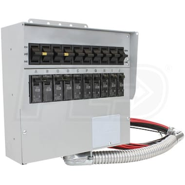 Reliance Controls Pro/Tran 2 - 30-Amp (120/240V 10-Circuit) Indoor Transfer Switch