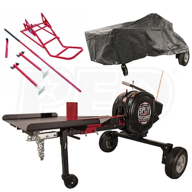 Split Second 34-Ton Kinetic Log Splitter Bundle Package- Includes Cover and Lift Kit