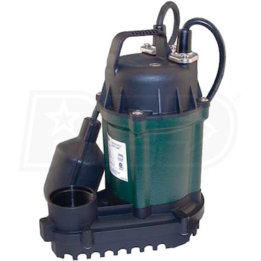 Zoeller WM49 - 1/4 HP Cast Iron Submersible Sump Pump w/ Tether Float Switch