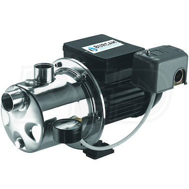Burcam Pumps 16 GPM 3/4 HP Stainless Steel Shallow Well Jet Pump
