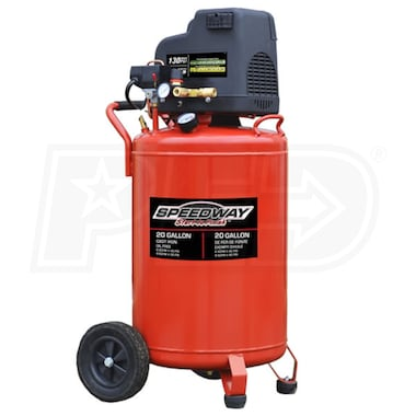Speedway 2-HP 20-Gallon Single Stage Air Compressor