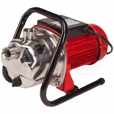 Red Lion RJSE-75SS - 17 GPM 3/4 HP Stainless Steel Portable Sprinkler / Transfer Pump