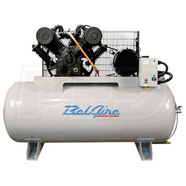 BelAire Iron Series 10-HP 120-Gallon Two-Stage Cast Iron Air Compressor (460V 3-Phase)