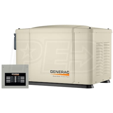 Generac PowerPact™ 7kW Home Standby Generator System (50-Amp 8-Circuit ATS) w/ Pre-Wired Whip