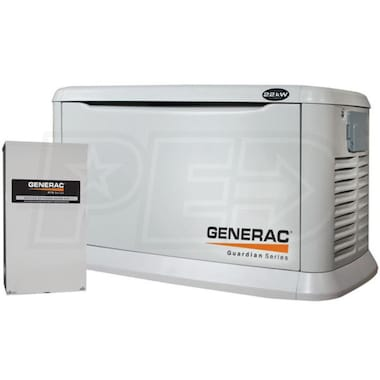 Generac Guardian™ 22kW Aluminum Standby Generator System (200A Service Disconnect + AC Shedding)