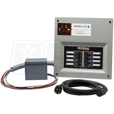 Generac 6853 - 30-Amp HomeLink™ Upgradeable Pre-Wired Manual Transfer Switch System